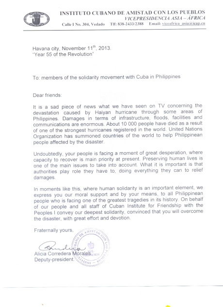 Message from ICAP #YolandaPH #Haiyan